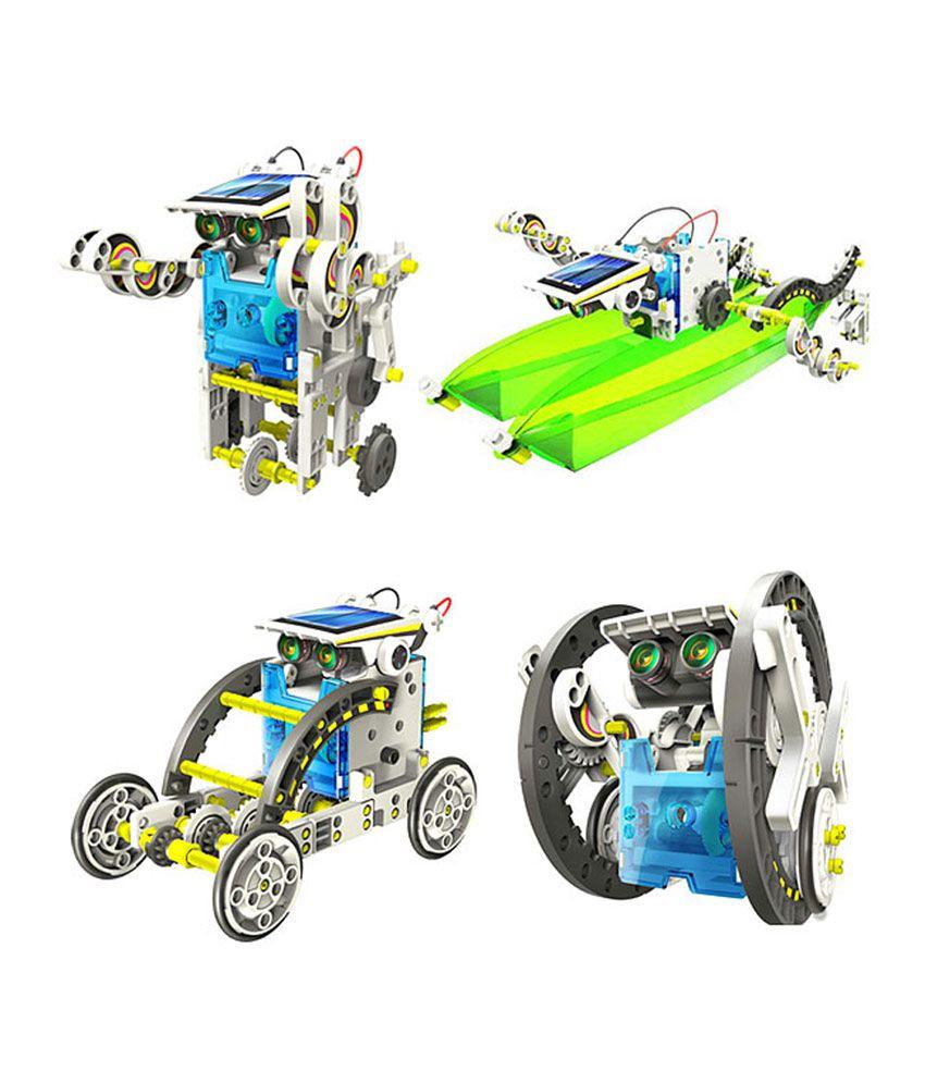 14 in 1 educational solar robot - RoboShop.lv
